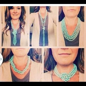 Premier Designs Turquoise Pearl Necklace